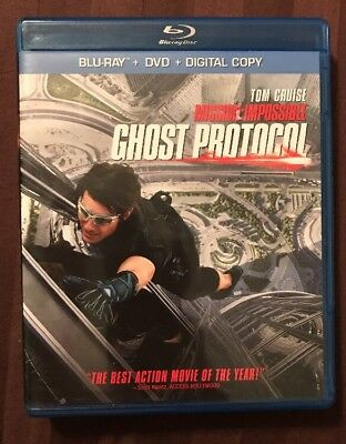 Mission: Impossible - Ghost Protocol (Blu-ray/DVD, 2012, 2-Disc Set) FREE SHIP!