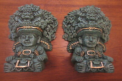 Made in Mexico Aztec inspired ZAREBSKI Bookshelf Bookends
