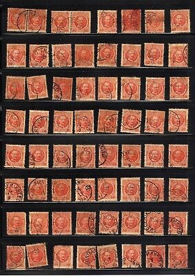 DANISH WEST INDIES, Excellent Accumulation of USED Stamps in a stock sheet(2-sid