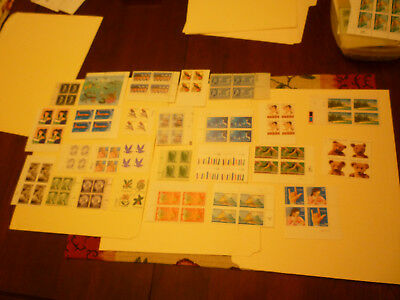US 25 Different MINT NEVER HINGED  Plate Blocks  FACE $ 27.24