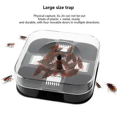 Cockroach Trap with Baits Plastic Reusable Non-Toxic Bug Roach Catcher Inse HCXM
