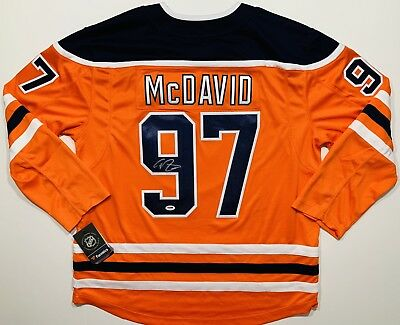 new arrival 44345 2eab5 CONNOR MCDAVID SIGNED Autographed Edmonton Oilers Hockey Jersey Fanatics  Psa/Dna