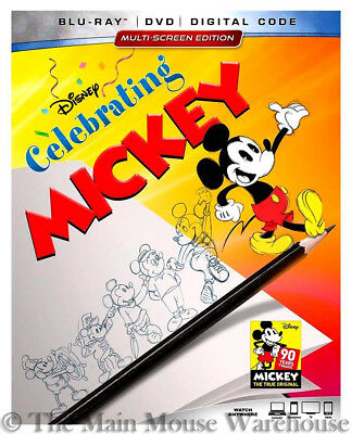 Disney Celebrating Mickey Mouse Classic Cartoons Blu-ray DVD Digital Copy Code