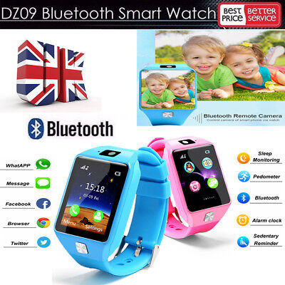 DZ09 Smart Watch Sim Phone Bluetooth Camera Apple & Android Compatible -UK STOCK