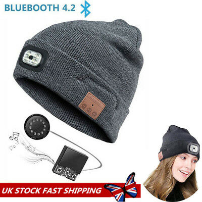 8a3b1cbc3b0 Warm Beanie Wireless Bluetooth Hat Music Head Cap Headset Headphone Speaker  Hat 1 of 12FREE Shipping ...