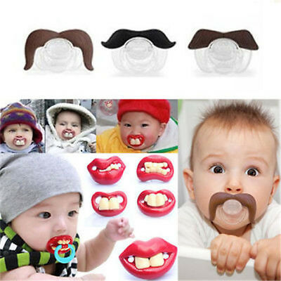 Funny Baby Infant Dummy Pacifier Silicone Smoother Orthodontic Teeth AM/_ EG/_ HK