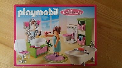 PLAYMOBIL DOLLHOUSE BADEZIMMER 5307 Romatik Bad Kinder