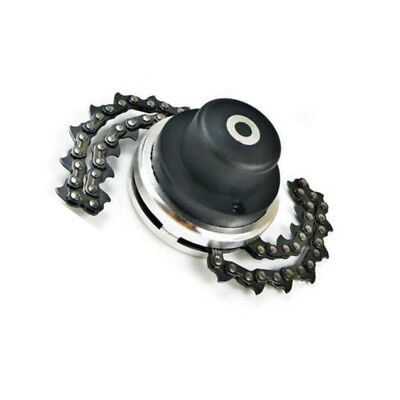 Black 65Mn Trimmer Head Coil Chain Brush Cutter Grass Trimmer Tool Lawnmower Pro