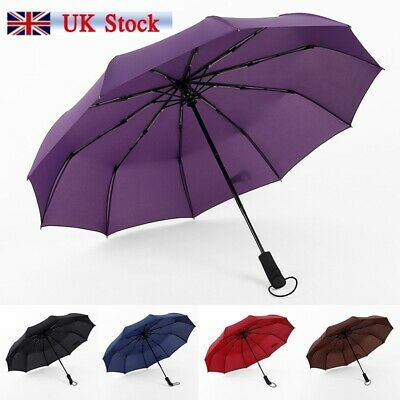 Compact Umbrella Automatic Fold Windproof Strong Travel Wind UV Resistance