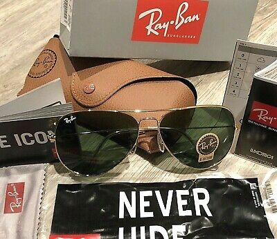 Ray Ban Sunglasses Aviator RB3026 / 62mm Gold Frame / Green Lens