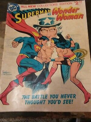 1977 Collector's Edition Super Man Vs Wonder Woman,Giant Size Issue