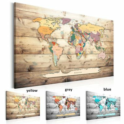 Modern Wall Art World Map Canvas Print Picture Room Home Decor Poster Painting