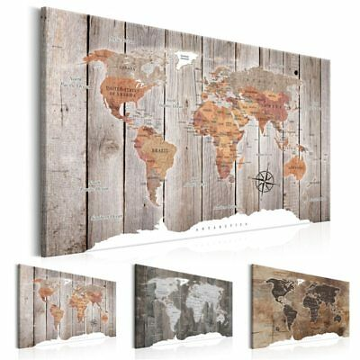 Canvas Painting World Map Modern Wall Art Print Home Decor Poster No Frame