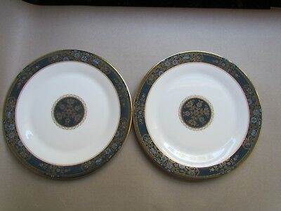 """ROYAL DOULTON CARLYLE H5018 TWO 10½"""" DINNER PLATES - 2ND QUALITY (Ref3743)"""