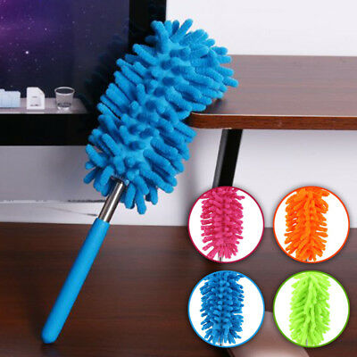 Extendable Telescopic Magic Microfiber Cleaning Feather Duster Extending Brush