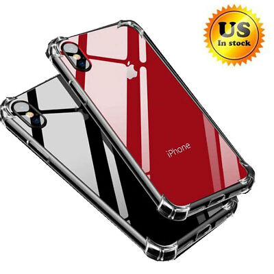 Hybrid Shockproof Protective Thin Clear TPU Bumper Case Fits iPhone XS MAX XR