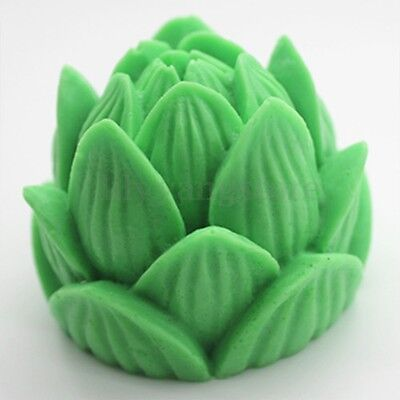 New 3D Lotus Silicone Soap Candle Making Mold Mould Resin Handmade DIY Carft