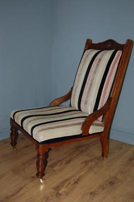 Delightful Victorian Mahogany Nursing Chair, Bedroom Chair, Hall Chair