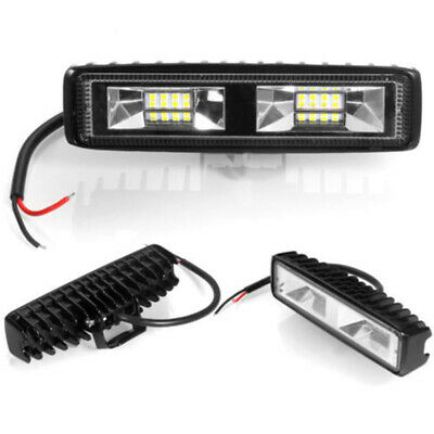 2 X 48W 12V 16LED Car /SUV /Off-Road Work Lights Bar Spot Beam Driving Fog Lamps