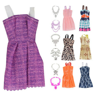 24Pcs/Set Mixed Doll Shoes Dresses Jewellery For Barbie Doll Dresses Clothes HOT