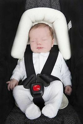 Head Support Ultra Soft  for car seats,strollers, bouncers cream