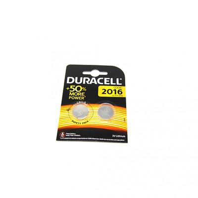 2x Duracell CR2016 3V Lithium Button Battery Coin Cell DL/CR/BR 2016 Exp. 2027