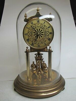 A 400Day/Anniversary Clock with Gilt Dial
