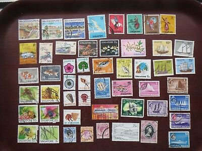 50  SINGAPORE STAMPS (all eras)
