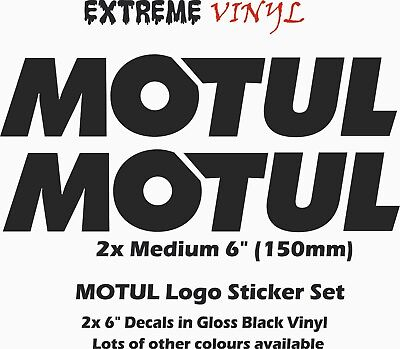 MOTUL Oil Stickers 2x Medium 150mm Gloss black Lots of other Colours Available