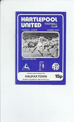 Hartlepool United v Halifax Town Football Programme 1979/80