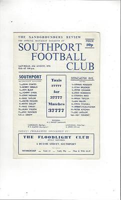 Southport v Doncaster Rovers 1976/77 Football Programme