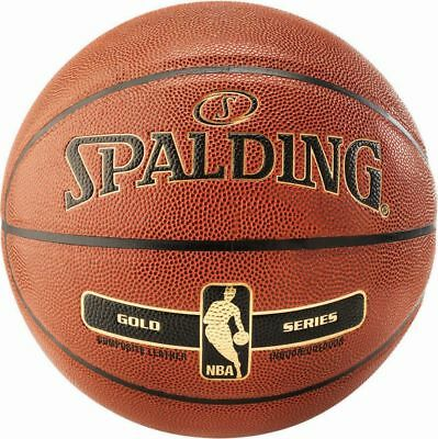 Spalding Basketball NBA Gold In/Out Ball Spielball orange Gr 6