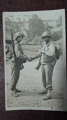 Battle Of The Bulge 1944 Picture Two Black Gi