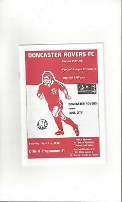 Doncaster Rovers v Hull City Football Programme 1997/98