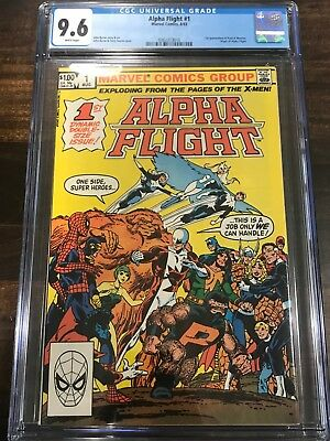 CGC 9.6 Alpha Flight #1 White Pages WPC