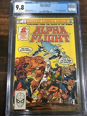 CGC 9.8 Alpha Flight #1 White Pages WPC