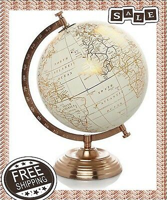 Copper World Globe Ornament Home Decor Vintage Retro Style Christmas Gift