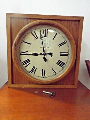 Beautiful Standard Time Wall Clock by Colonial of Zeeland Westminster Chime MINT