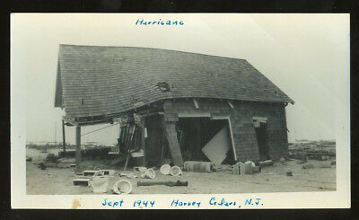 Photo by Lynn, Great Atlantic Hurricane damage HARVEY CEDARS bldg., toilets 1944