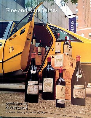 Sotheby's Catalog FINE AND RARE WINES  9/1996 New York