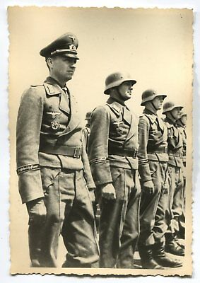 German Wwii Photo From Archive: Elite Wehrmacht Unit Lining Up