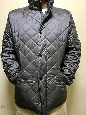 Barbour Men's Gray Chelsea Flyweight Quilted Full Zip Jacket Nylon M NWT