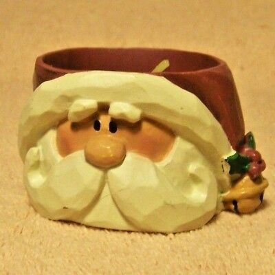 "NEW Crazy Mountain ""SANTA HEAD T-LITE CANDLE HOLDER"""
