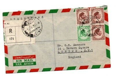 1954 Libya Air Mail Cover Sent Registered Post - dated 13 August 1954