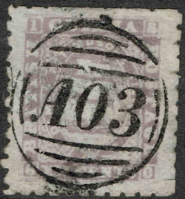 1860 thick paper with beautifully struck A03, very fine used