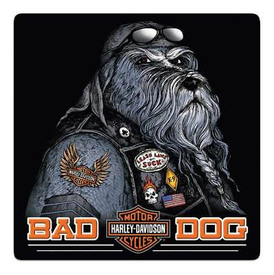 Harley-Davidson Bad Dog Bar & Shield Embossed Tin Sign, 14.5 x 14.5 inch 2011791