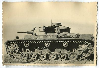 German Wwii Photo From Archive: Panzer Iii Tank