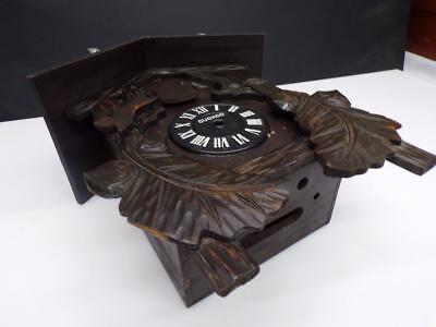 "Japanese ""Miken"" Large Cuckoo Clock Brass Movement Metal-Winged Bird WS5-17"