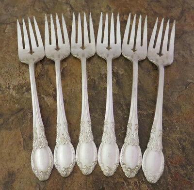 Oneida Park Lane Chatelaine Set of 6 Salad Forks Wm A Rogers Silverplate Lot E