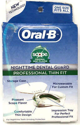 Oral-B Nighttime Dental Guard Professional Thin Fit Sealed Mint Flavor One Size